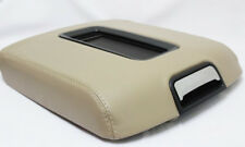 Real Leather Beige Center Console Lid Armrest Cover Fit 15-18 Chevy Tahoe, Yukon
