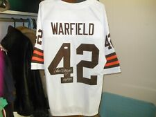 Paul Warfield NFL HOFer autographed Cleveland Browns jersey with COA