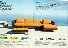 PUBLICITE ADVERTISING 116  2008  Kettal (2p)  sièges fauteuils Manhattan
