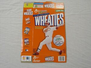 Mark McGwire St. Louis Cardinals 70 Home Runs Wheaties Cereal Box (Flat) 1998