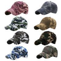 Men Women Baseball Cap Tactical Army Camo Hat Trucker Snapback Outdoor Sport US