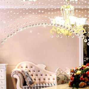 Tassel Fringe Crystal Beads String Door Curtain Room Divider Window Home Decor