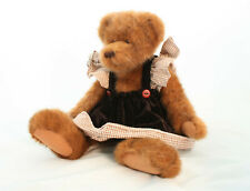 Teddy Bear By Teddy Treasures Classic Articulated Plush Toy With Velvet Dress