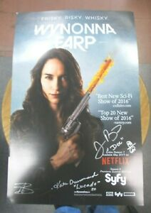 Wynonna Earp Cast Signed Exclusive Poster Signed By 3 Tim Roson  Wondercon