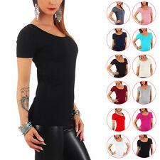 Mellice - Damen Kurzarm Shirt U-Neck
