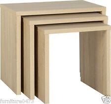Light Oak Effect Nest Of Tables W56cm x D39cm x H51cm CAMBRIDGE