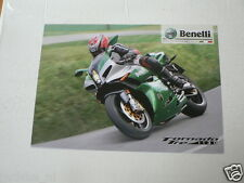 D908 BROCHURE BENELLI TORNADO TRE 1130 ITALIAN 2 PAGES MOTORCYCLE BIKE