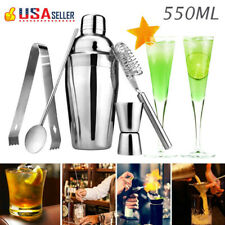 Stainless Steel Cocktail Shaker Mixer Drink Bartender Martini Tools Bar Set Kit