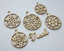 DIE CUT - CHIPBOARD - boules  de Noel - decoration, die cuts