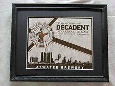 ATWATER DECADENT DARK CHOCOLATE ALE  BEER SIGN   #1242