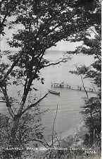 Nice Scene at Cottage Grove Camp Higgins Lake MI Real Photo not postally used