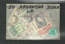 50 ARGENTINA STAMPS COLLECTION ALL DIFFERENT  USED     CHEAP