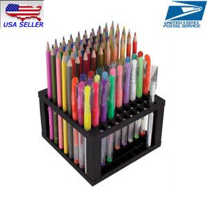 96 Hole Detachable Plastic Pencil & Brush Holder Desk Stand Artist Desk Organize