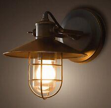 Stilvolle Wandleuchte in Schwarz E27 Vintage Wand Wandlampe Leuchte innen Flur