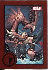 Marvel Greatest Battles Red Bordered Parallel Base Card #76
