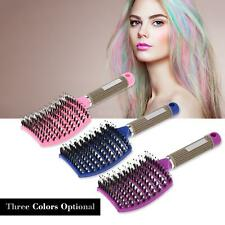 Curved Boar Bristle Hair Brush Massage Comb Detangling Hairbrush for Women Use