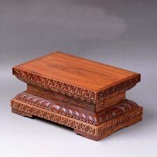 HuaLi wood Rectangular base Display stand For Kwan-yin buddha statue L 9.7 Inch