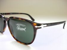 NEW AUTHENTIC PERSOL PO3019S 24/31 HAVANA/CRYSTAL GREEN 52mm SUNGLASSES