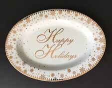 "222 Fifth ""FESTIVE HOLIDAYS"" Oval Serving Platter~New"