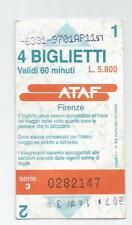 TICKET; ATAF FIRENZE / FLORENCE 4 biglietti used