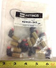 SMC FITTINGS LOT OF 10 KQW01-34S