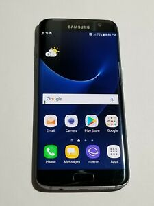 Samsung Galaxy S7 Edge G935A - Black- AT&T Unlockd- ScreenBurn/DeadPxl-OC80