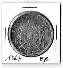 Pièce de 5 francs Napoléon 1867 BB