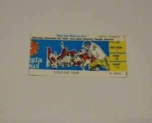 1976 FIESTA BOWL FULL TICKET 12/25 RARE WYOMING COWBOYS VS OKLAHOMA SOONERS NCAA