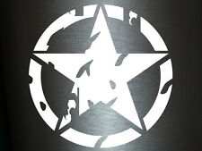 1 x 2 Plott Aufkleber US Army Stern Stern Zerfressen America Militär Military US