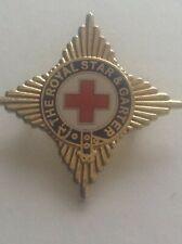 More details for rare red cross enamel badge pin the royal star & garter nursing injured soldiers
