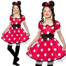 Cute Mouse Girl Kids Girls Fancy Dress Costume Minnie Mickey 3-13 Years