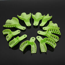 Impression Trays Autoclavable Plastic Green Central Supply For Dental Lab