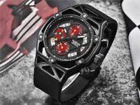 Men's North Black Luxury Chronograph Quartz Watch