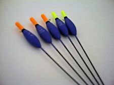 For Lake /& Canals 5 x Lineaeffe  4x12 Silver Fish  Pole Floats.Orange Top  PF31
