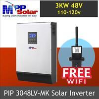 (LV-MK) 3000w 48v 110vac Solar Inverter 80A MPPT zero transfer time + FREE WIFI