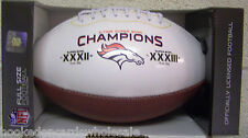 Denver Broncos 2 time Super Bowl Champs on the Fifty Commemorative Football