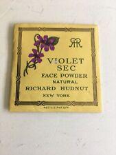 Vintage Richard Hudnut Violet  Sec Face Powder Sample