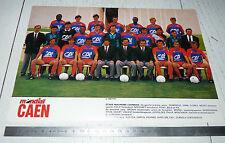 CLIPPING POSTER FOOTBALL 1988-1989 STADE MALHERBE CAEN SMC VENOIX