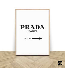 MIP°123 Prada Marfa Digital Poster, Print, Druck, White, Mode, Wohnzimmer, Art