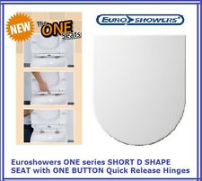 Euroshowers ONE SEAT SHORT D SHAPE SOFT CLOSE QUICK RELEASE TOILET SEAT - 80210