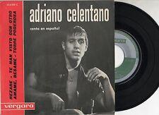 ADRIANO CELENTANO canta in SPAGNOLO disco EP 45 giri STAMPA SPAGNOLA label VERDE