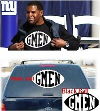 """NY Giants """"GMEN"""" Decal Window Stickers - Michael Strahan G-MEN -  *LARGE*"""