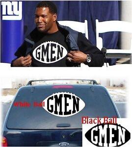 "NY Giants ""GMEN"" Decal Window Stickers - Michael Strahan G-MEN -"
