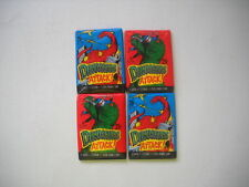 Dinosaurs Attack trading Cards 4 packs a