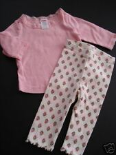 Gymboree Teachers Pet Pink Top Rose Leggings 3-6