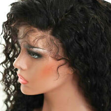 Brazilian Human Hair Deep Wavy Curly Lace Front Full Wig With Real Hair Nice