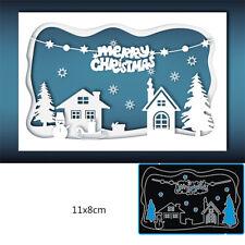 Stanzschablone Cutting Dies Weihnachten Haus Schablonen Scrapbooking Album Karte