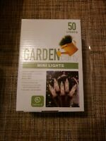 Mini String Lights Clear 50 Ct. Holiday Indoor/ Outdoor Brown Wire  NEW