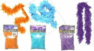 Girls Feather Boa, 48 inches, Orange, Blue or Purple, Dress Up Halloween Fancy