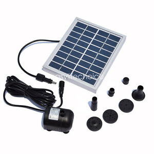9V 2w 150L/H Solar Power Fountain Kit Water Pump Pond Pool Submersible Feature